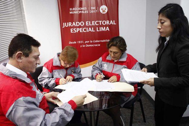 53 LISTAS DE CANDIDATOS SE PRESENTAN A ELECCIONES MUNICIPALES 2017