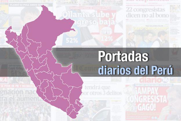 PORTADAS DE PRINCIPALES DIARIOS A NIVEL NACIONAL JUEVES 16  DE MAYO 2019