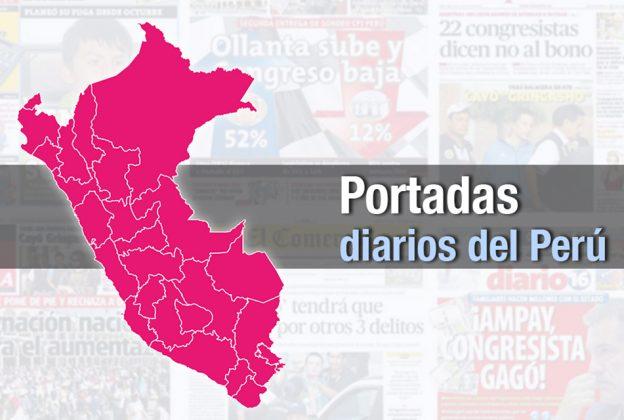 PORTADAS DE PRINCIPALES DIARIOS A NIVEL NACIONAL LUNES 24  DE FEBRERO DE 2020
