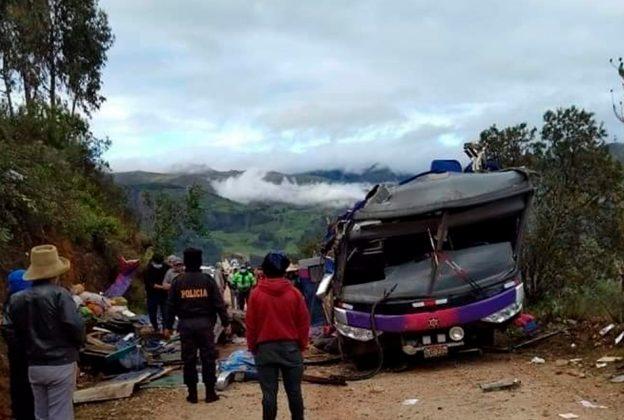 ACCIDENTE EN ÁNCASH: 15 HERIDOS SON ATENDIDOS EN EL HOSPITAL DE POMABAMBA