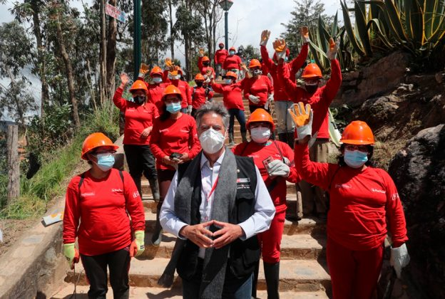 PRESIDENTE DE LA REPÚBLICA Y MINISTRO DEL MTPE SUPERVISAN LABORES DE TRABAJA PERÚ EN AMAZONAS